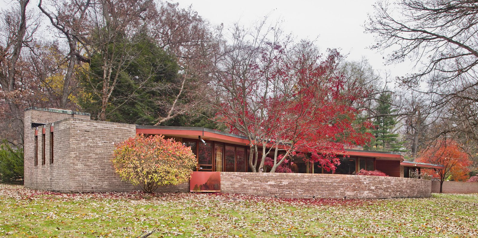 The Laurent House opens to the public for the first time on June 7 and will be open the first and last weekend of each month. Admission is $15. Photo courtesy of Wright Auction House.  Modern Master: Frank Lloyd Wright by Matthew Keeshin from Accessible Frank Lloyd Wright House in Illinois Is Reborn as a Museum