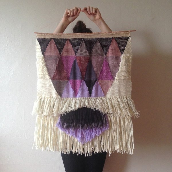 Textured, Woolen Tapestries Made of New and Vintage Yarn - Photo 4 of 6 -