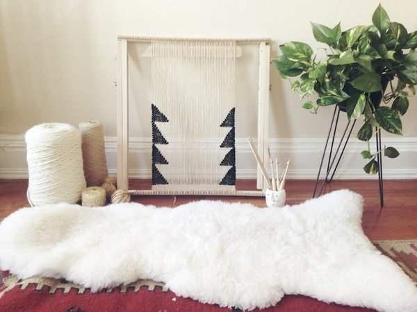 Textured, Woolen Tapestries Made of New and Vintage Yarn - Photo 6 of 6 -