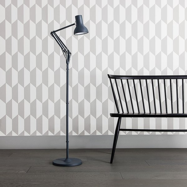 Anglepoise produces a variety of lamps that are designed for both commercial and residential use. The Type 75 lamp was designed by Sir Kenneth Grange, and was inspired by a 1970s version of a 1950s Anglepoise lamp. Grange's reimagination of the design was to produce a lamp with clean modern lines and unobtrusive functionality.