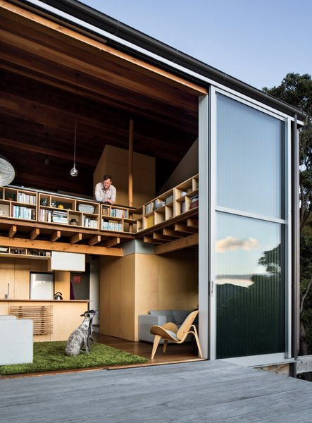 25 Dogs Living in the Modern World - Photo 14 of 25 - Open enclosures and connections to adjacent living spaces keep the home inviting and airy rather than densely packed—a key feature for an owner of two dogs: Ben, a whippet, and Flynn, an Irish gypsy dog.
