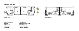 A Minimalist Duplex in Venice, California - Photo 9 of 9 - The floor plan of Dimster Architecture's Dual House in Venice, California.