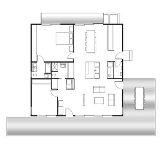 "This Northern California Prefab Gets a Dose of Universal Design - Photo 8 of 8 - Connect 5 House Floor Plan<span style=""color: rgb(204, 204, 204); font-size: 13px; line-height: 2em;"">Add credit</span>"