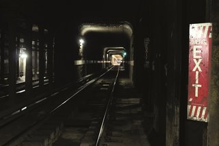 Emergency exits in tunnels lead back to the street level above. Photo courtesy Jurne.