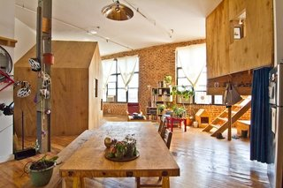 15 Modern Summer Rentals - Photo 3 of 15 - Indoor Bushwick Campsite (Brooklyn)<br><br>Artists Terry Chiao and Adam Frezza found a creative solution to taking on roommates to make rent in New York; build a free-standing cabin in their factory-turned-studio loft and rent it out to visitors. The buzzed-about rental has its own Tumblr and an array of press clippings. The relaxed atmosphere and sunny, airy interior may be all the recommendations a traveler needs.<br><br>Listing at A Cabin in a Loft in Brooklyn.