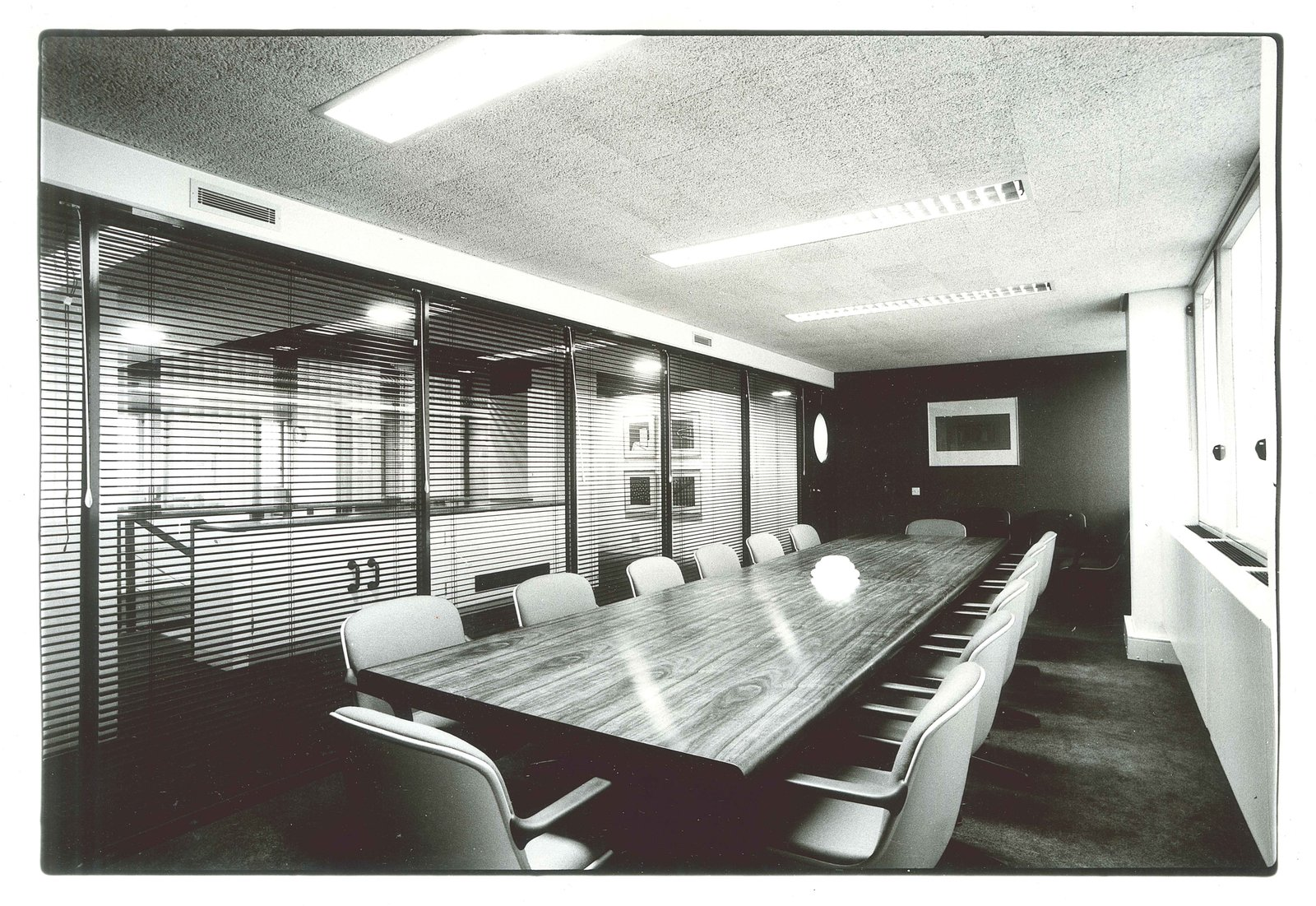 Booker McConnell Head Office  Completed in 1980, this interior overhaul was one of many Zeev Aram & Associates interior design projects.  Office by RGA lLP from ARAM at 50: Golden Anniversary for a London Design Icon