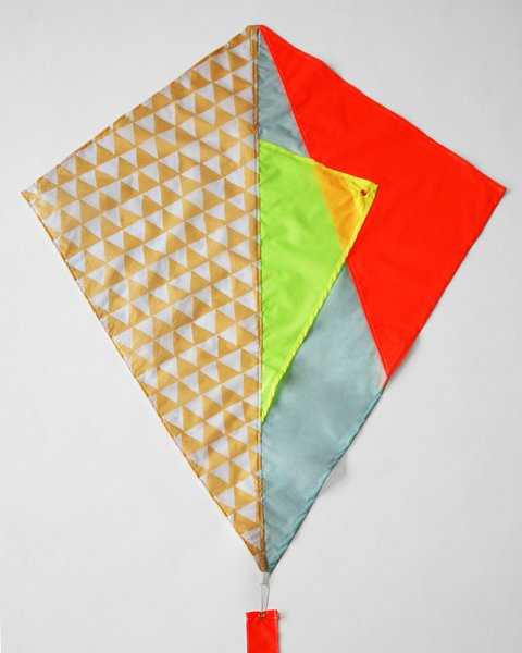 Haptic Lab is a Brooklyn design studio that creates quilts, kites, and other textiles. The Deneb Kite is crafted from screen-printed kite fabric in Brooklyn, and is cut and assembled in Williamsport, Pennsylvania. The Deneb Kite features Haptic Lab's signature ten-foot-long patchwork kite tail and includes kite twine and flying instructions.