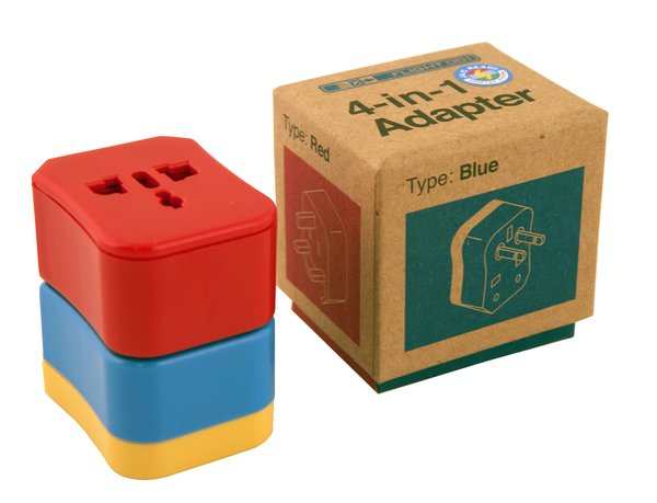 4-in-1 Travel Adapter by Flight 001, $25 at flight001.com  From jet setters to backpackers, the one thing every traveler needs in the age of smartphone GPS is a handy adapter for charging. These four color-coded plugs provide juice in more than 150 countries.