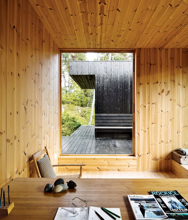 This photo of Sævik Retreat, a 1960s artist's retreat in southeastern Norway designed by Irene Sævik (featured in Dwell in November 2013) will be displayed in the Scandinavian pavilion at Dwell on Design in Los Angeles.   Photo by Ivan Brodey.  127+ Inspiring Interior Ideas by Dwell from Inspiring Live-Work Spaces