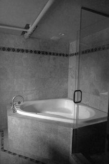 A before shot of the tub.