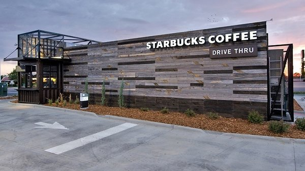 Starbucks Drive-Thru (Chicago, Illinois)  This demi-sized, 700-square-foot coffee shop in Chicago's Rogers Park neighborhood is one of a growing number of modular experiments from the big chain. This LEED-certified structure is hopefully a play towards better building practices as opposed to a means to plop a store on any available space.