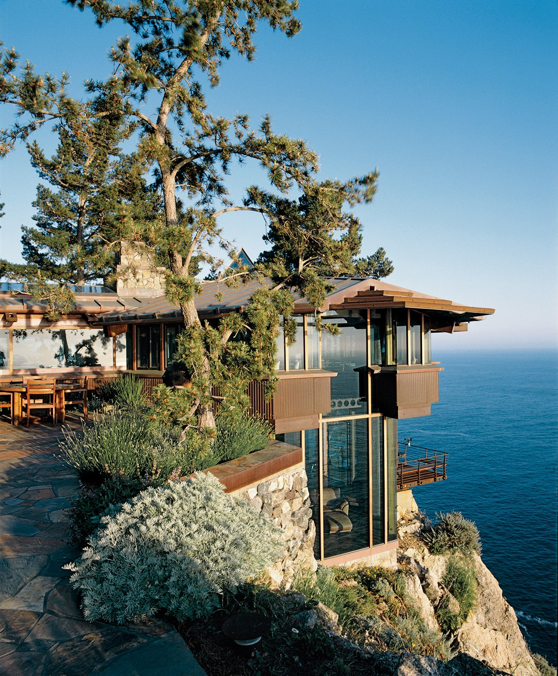 The Partington Point House, which Muennig renovated in 1995. Tagged: Exterior, House, Wood Siding Material, and Glass Siding Material.  Photo 5 of 9 in Big Sur: Coastal Commissions
