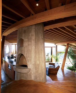 Big Sur: Coastal Commissions - Photo 1 of 9 - The interiors of many of Muennig's houses emphasize natural building materials such <br><br>as wood, concrete, and stone. Plant life and nature are intrinsic to the Pfeiffer Ridge House IV.