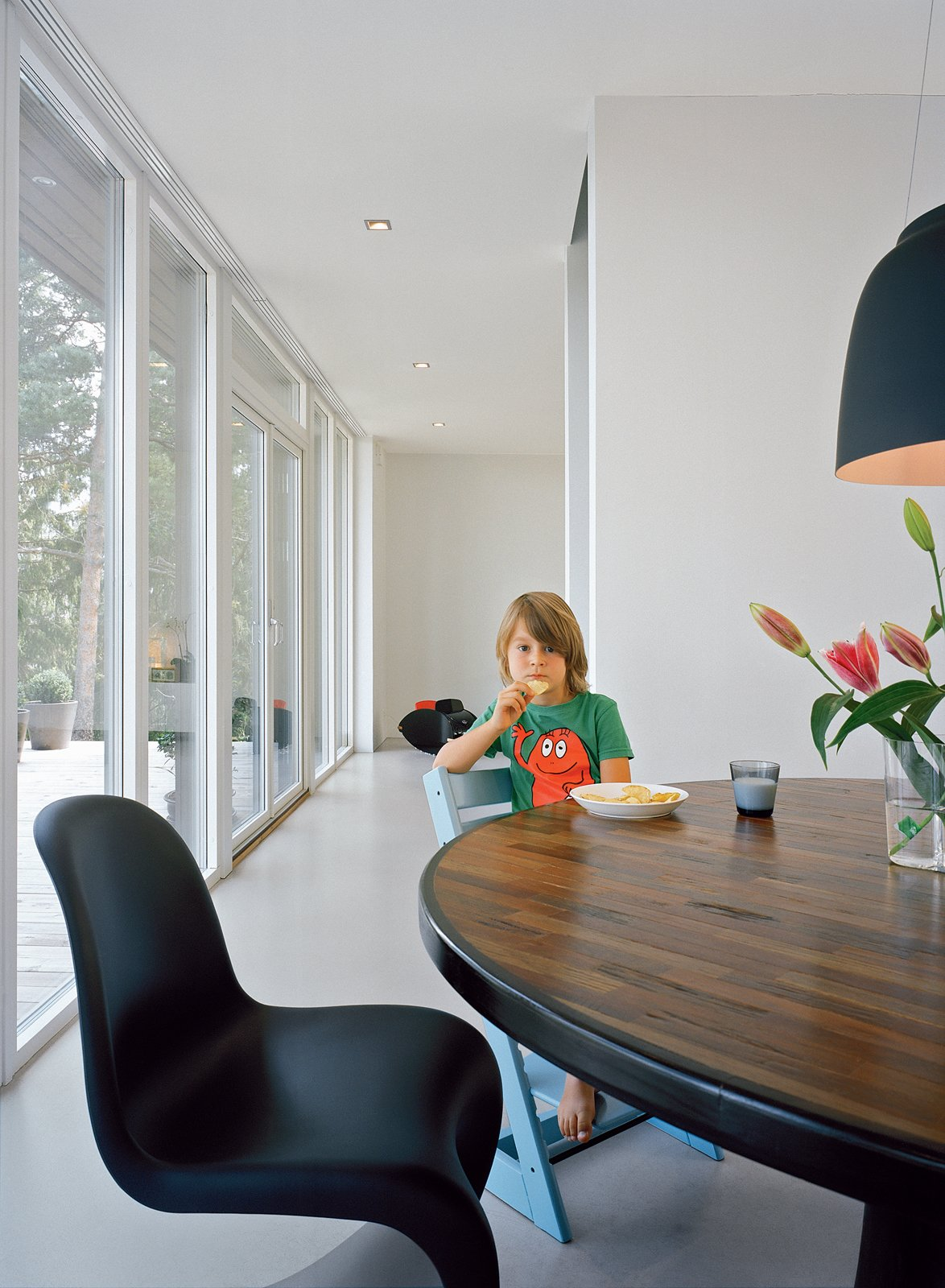 The Bossel family moved into their home a year ago from an apartment in central Stockholm that was half the size.