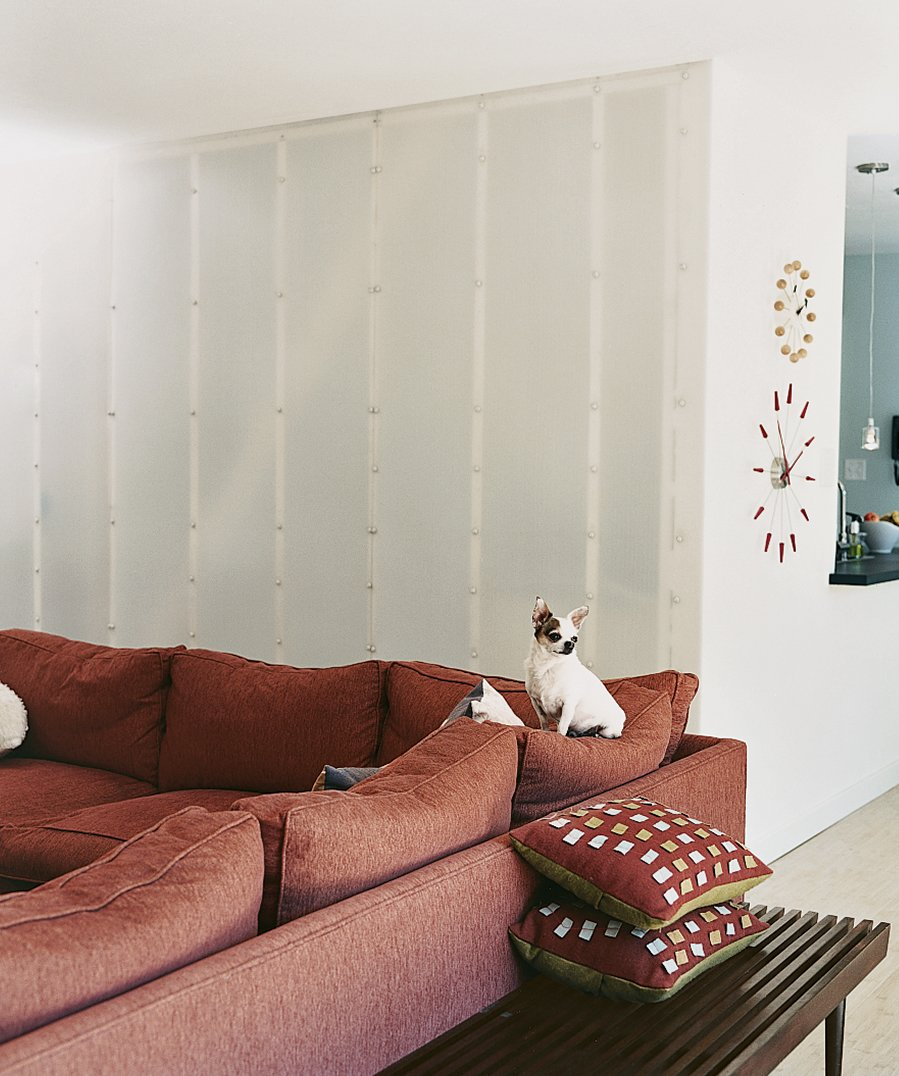 Tagged: Living Room, Ottomans, and Bench.  Photo 3 of 6 in Affordable Modern House Built with Sheer Determination