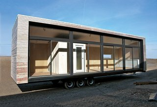 "Upwardly Mobile Homes - Photo 3 of 6 - Architect Christopher C. Deam's Glassic Flat attempts to put the ""pre"" back into prefab: When the unit leaves the Breckenridge factory on the flatbed of a stylish big rig, it is ready for occupation."