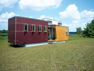 Upwardly Mobile Homes - Photo 5 of 6 - Andy Thomson's miniHome takes cues from the trailer park (it's mobile) but pushes a new aesthetic and uses sustainable building practices and materials.