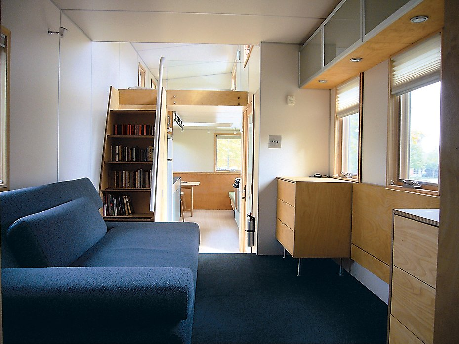 An interior shot of the miniHome, conceived by Andy Thomson.
