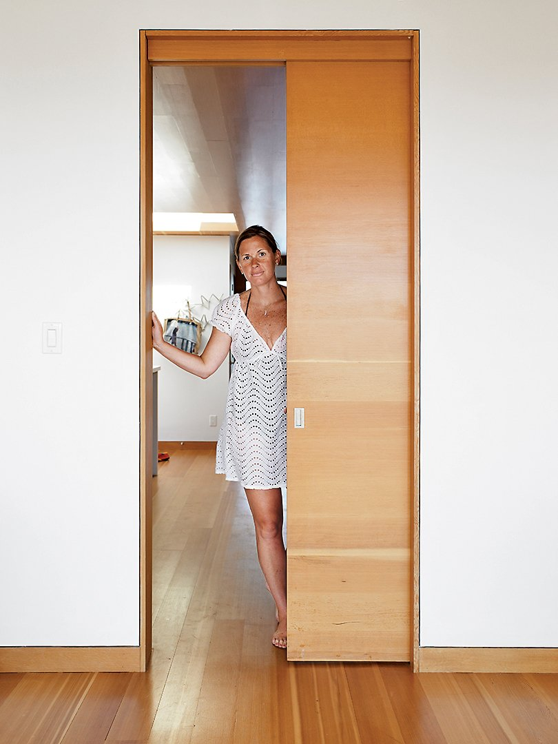 Becca Worple. Tagged: Doors, Interior, Sliding Door Type, and Wood.  Photo 16 of 16 in Floating House, Lake Huron