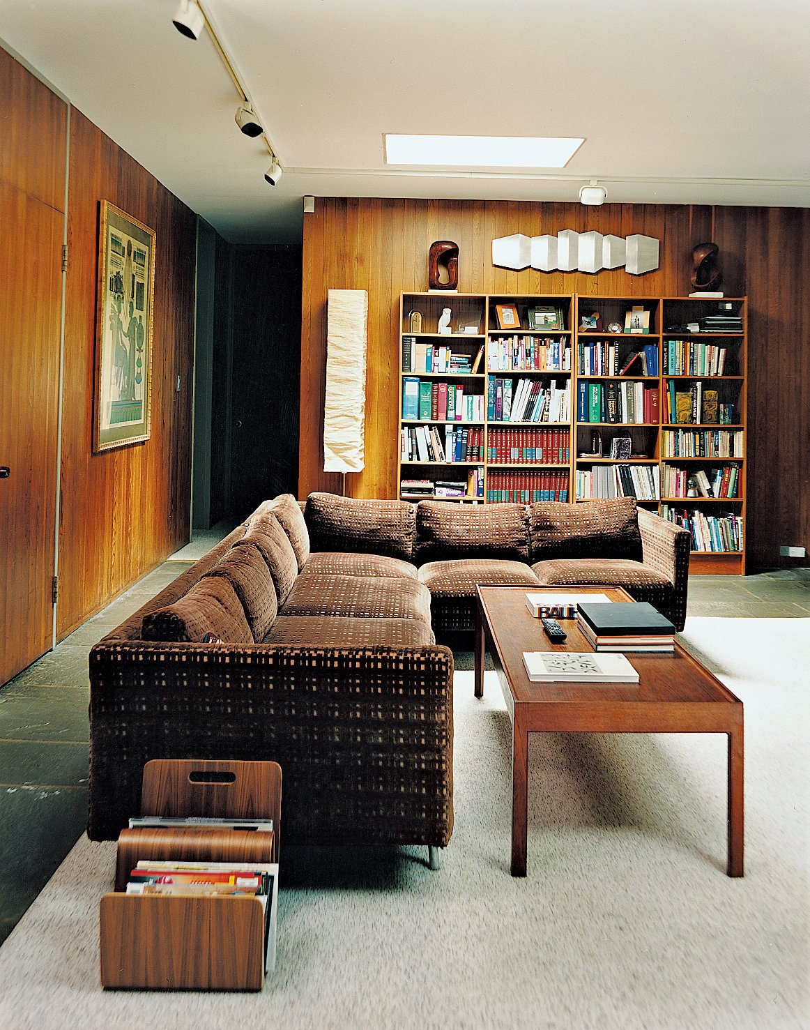 The playroom, lit by skylights, is now a reading and television space for North, whose children are now adults.  Photo 6 of 9 in Marcel Breuer Hooper House II