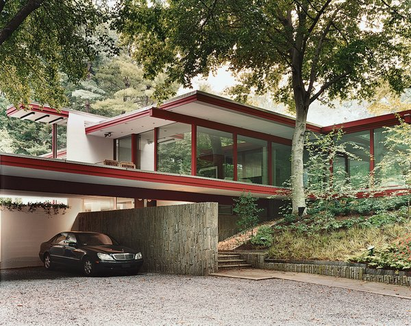 Modern master Richard Neutra built this house on the edge of Rock Creek Park.