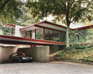 Modern master Richard Neutra built this house on the edge of Rock Creek Park.
