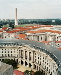 Federal-style architecture dominates much of Washington, particularly the city's monumental core. The Ronald Reagan Building is one such example.