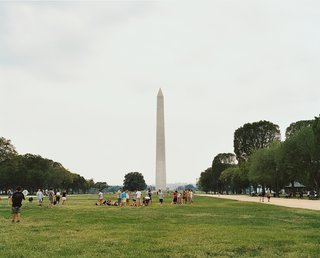 "Moeller calls the National Mall  ""a great big void."" The Smithsonian museums and federal institutions that ring the central green attract all manner of tourists."