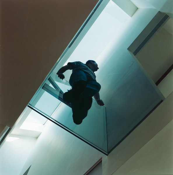 The glass walkway.