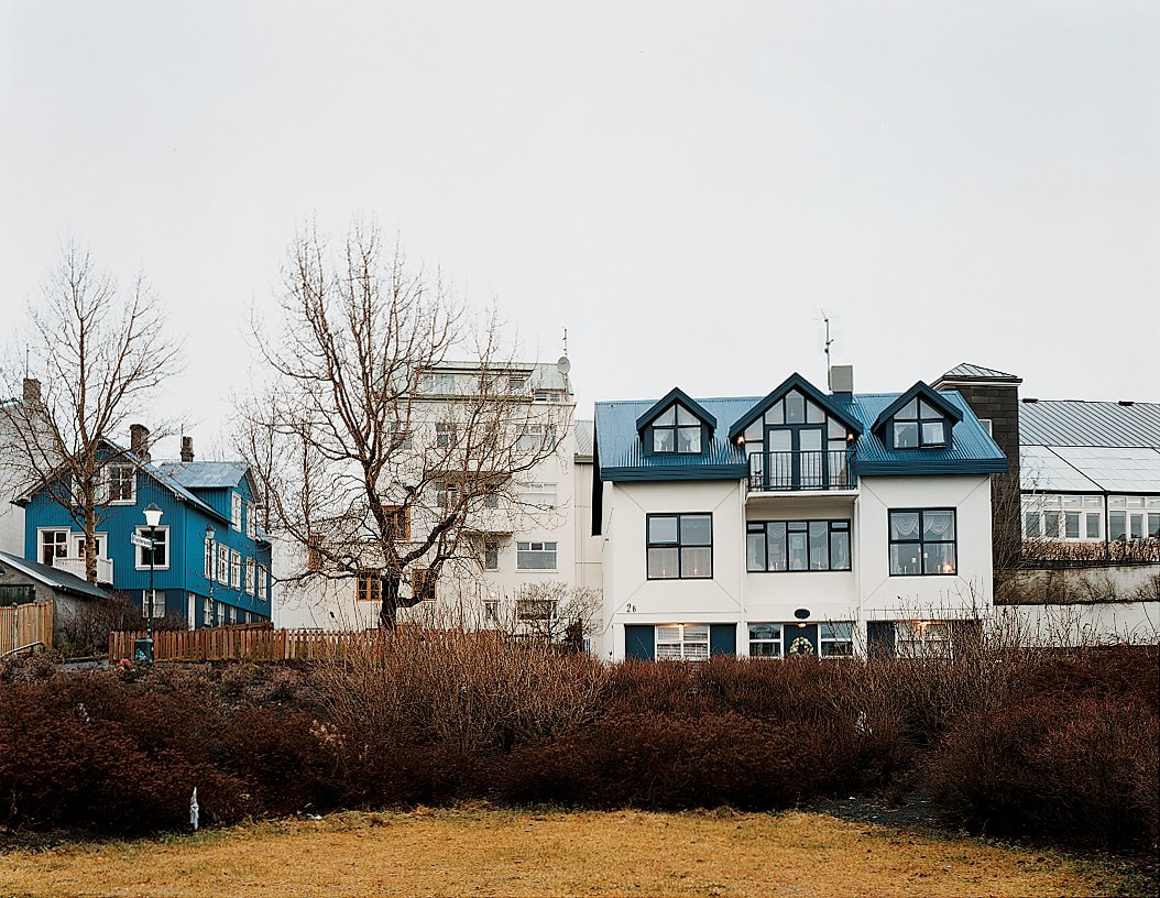 The houses show the traditional style alongside the contemporary.  Photo 4 of 13 in Reykjavík, Iceland