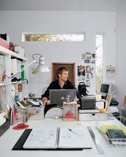 Stefan at work in his studio.