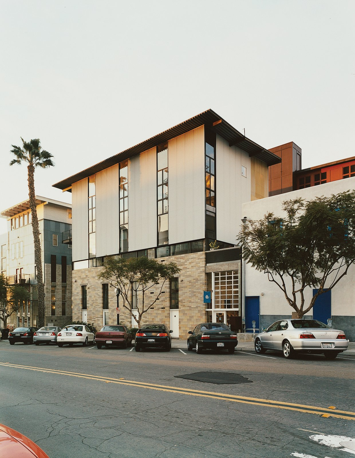 The Schafers' building, The Merrimac, built in 1999, is one of San Diego's first modern, mixed-use redevelopment projects.
