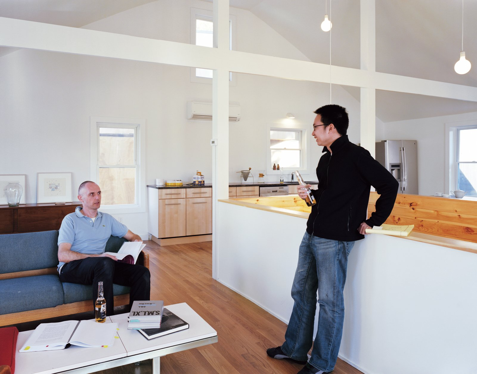 Schenk and Kaewlai on the second floor of Large, where Schenk eliminated the attic and several walls to create a more fluid and open space. Four Houses and a Future - Photo 11 of 11