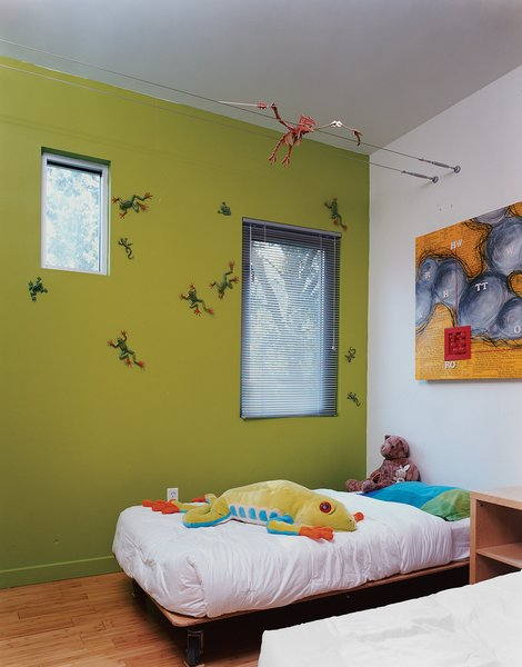 The boys' bedroom is outfitted with custom beds designed by Baird's studio.