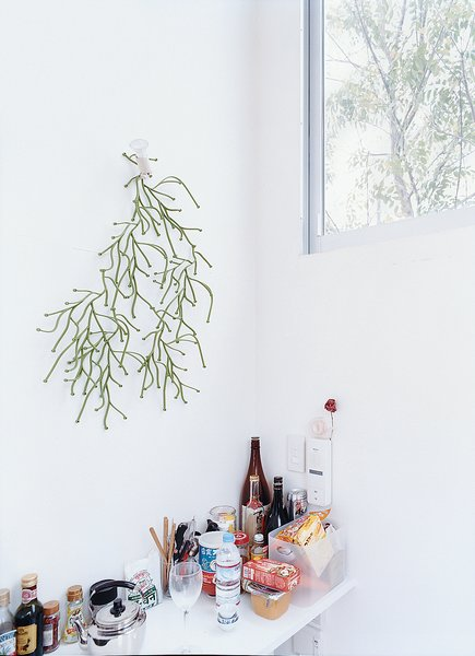 In Unit J's kitchen, the Bouroullec brother's Algue for Vitra echoes the greenery outside.