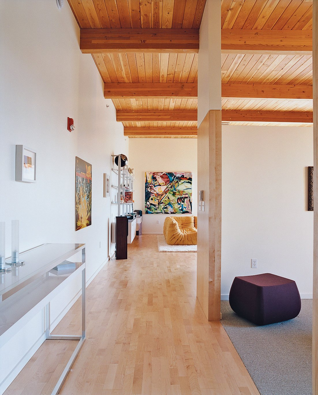 Although the loft is relatively small, high ceilings and an open floor plan give it room to spare.  Photo 6 of 8 in 8 Examples That Show How Loft Living Goes Beyond Just NYC from Community Building