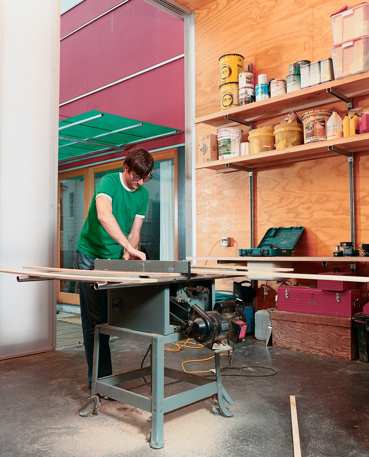 Sarti recently completed the studio addition to his house, giving him another 300 square feet of space. Now, all future home-improvement projects can be completed entirely onsite, though late-night table-saw usage might leave his neighbors sleepless in Seattle. Halving It All - Photo 3 of 8