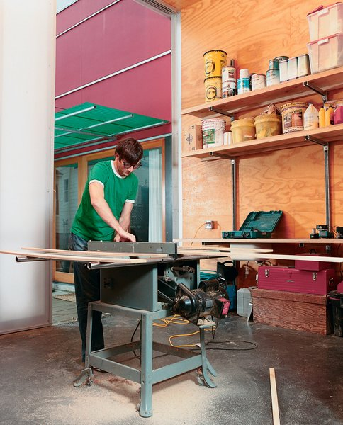Sarti recently completed the studio addition to his house, giving him another 300 square feet of space. Now, all future home-improvement projects can be completed entirely onsite, though late-night table-saw usage might leave his neighbors sleepless in Seattle.
