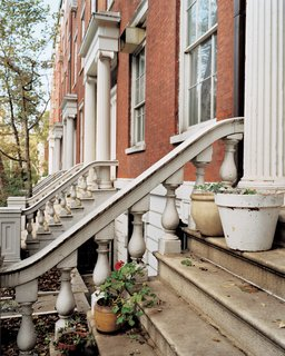 "Row House Revival - Photo 1 of 8 - The façades of the Greek Revival town houses that comprise ""the Row,"" on Greenwich Village's Washington Square, still evoke pre–Gilded Age New York. Within, however, modernity prevails."