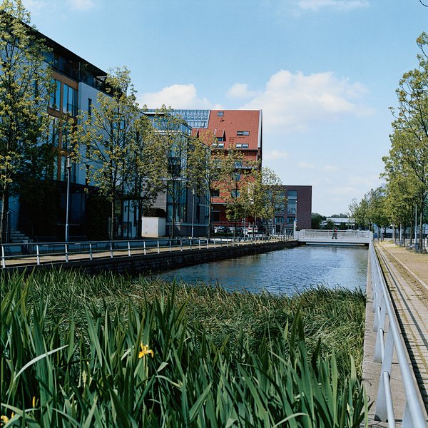One of three new canals that were cut to carry the water into the heart of the city.