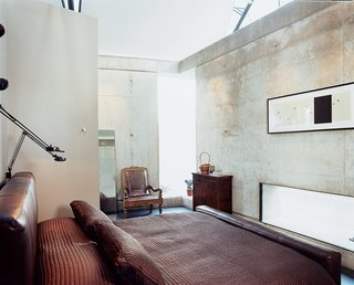 Love's Labors Found - Photo 10 of 11 - The custom leather platform bed was designed by Shikany's firm, PS Studios.