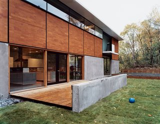 "20 Modern Homes From the Midwest - Photo 18 of 20 - Front view of the FlatPak House in Minneapolis, Minnesota. When the architect first told his wife about his idea, she said, ""It's about time you focus on a house for me!"" He continues, ""It's like the old story about the cobbler whose kids have no shoes."""