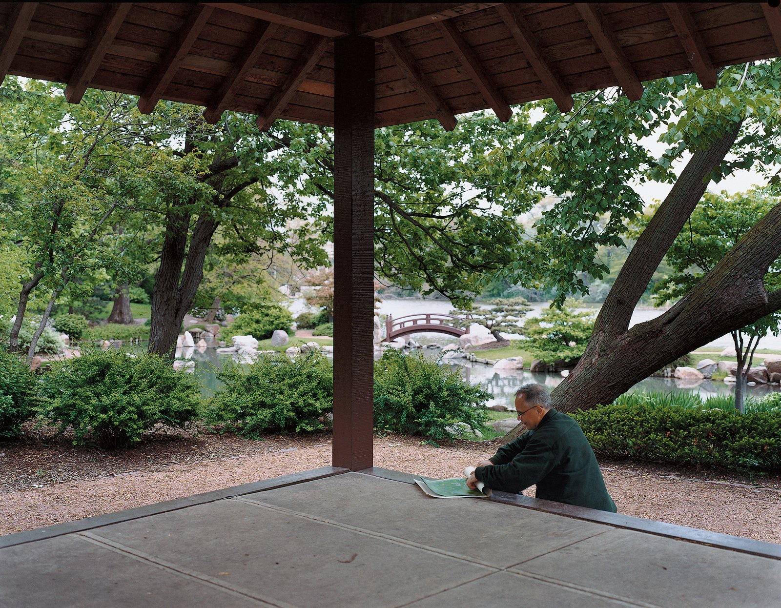The Osaka Garden in Jackson Park provides a respite from the city.