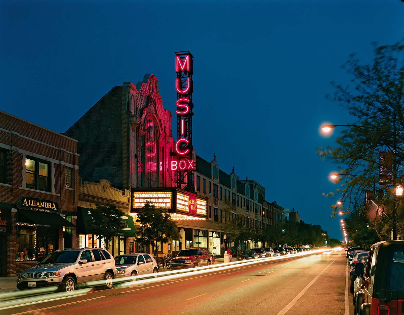 """Lynch calls the Music Box movie theater on Southport Avenue, designed by local architect Louis A. Simon in 1929, """"the last great independent"""" in Chicago. If you go, watch out for the theater's tireless protector, a ghost named Whitey who is said to still pace aisle four."""