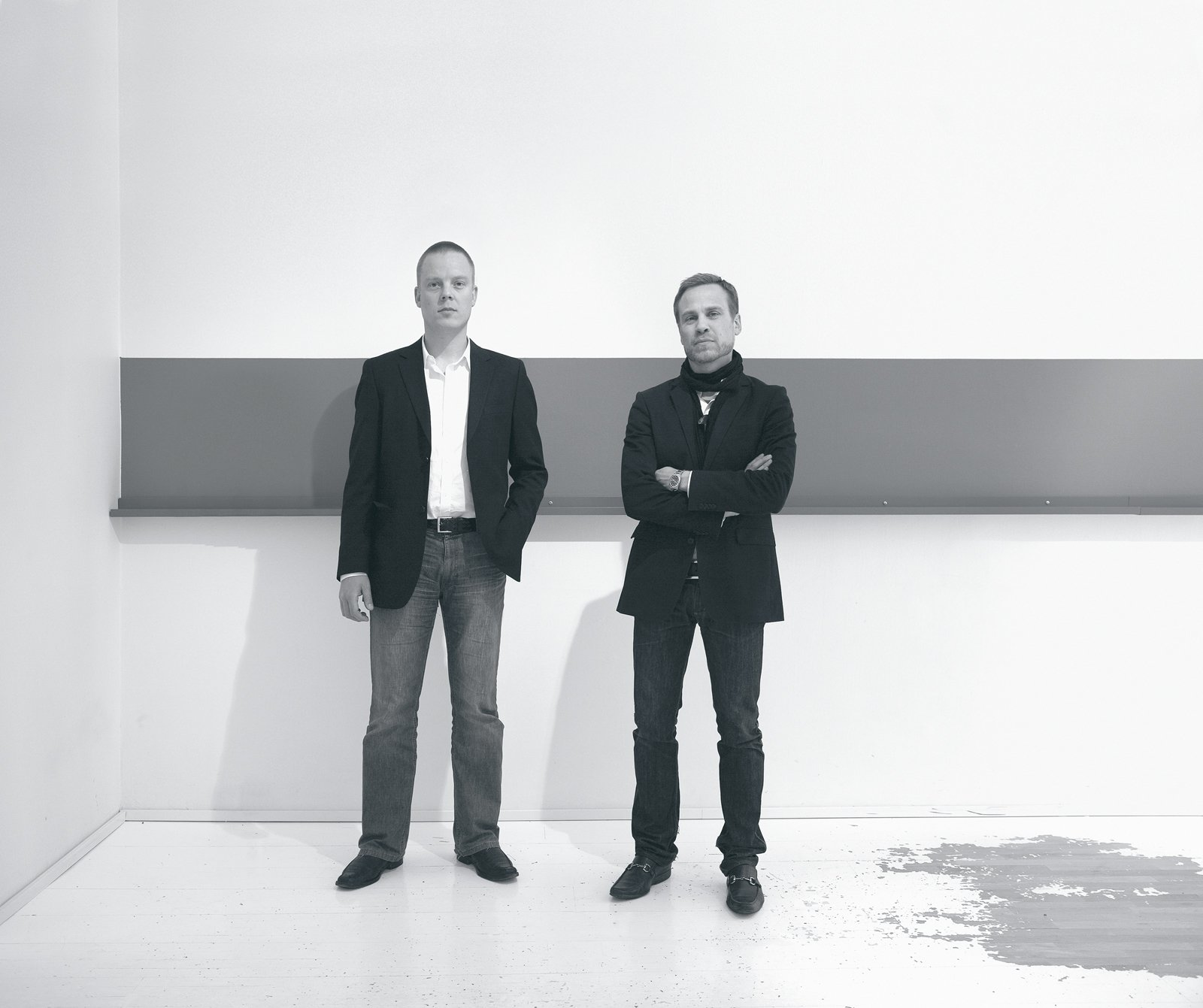 Anders Holmberg (right) and Carl-Johan Smedshammar take a moment to reflect on their work.