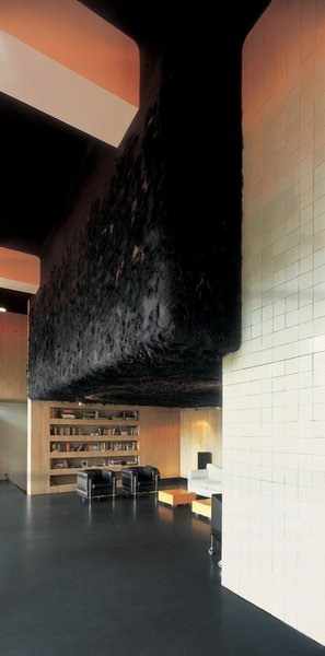 A dark cloak of Jongstra's felt covers the ceiling and walls of a private residence in Amersfoort.