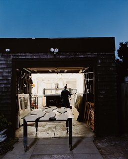 The firm Studio Under Manufacture is located in Andre Caradec's home garage in Oakland.