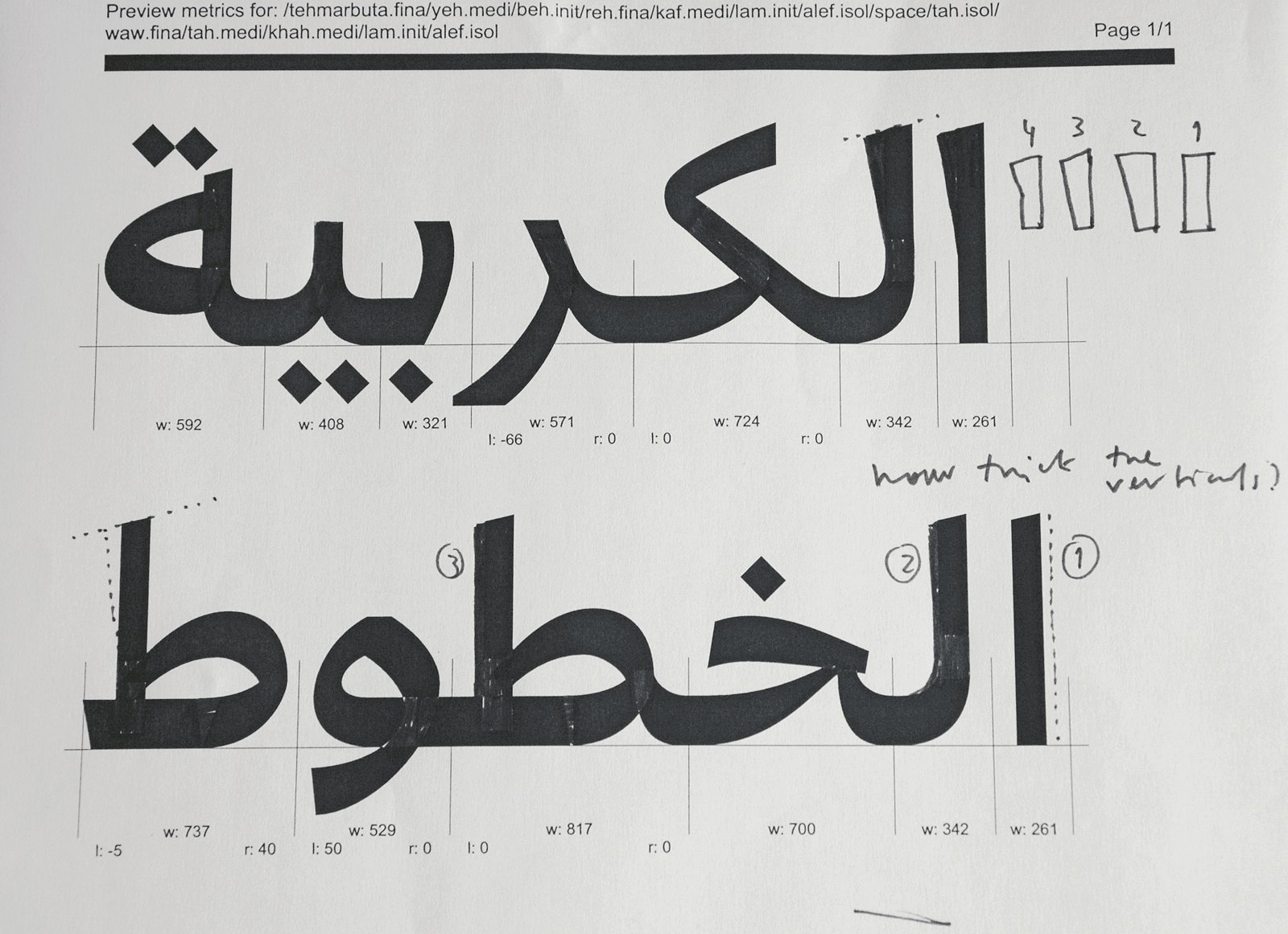 Bil'ak takes a meticulous approach to Arabic type design, although he is unaware of the words' meaning.  Photo 9 of 18 in Typographer Focus: Peter Biľak