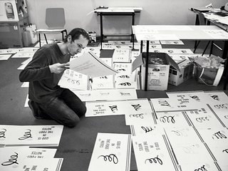 Typographer Focus: Peter Biľak - Photo 18 of 18 - In Bil'ak's studio, he and his staff assemble and hand-draw the cover for issue #7.