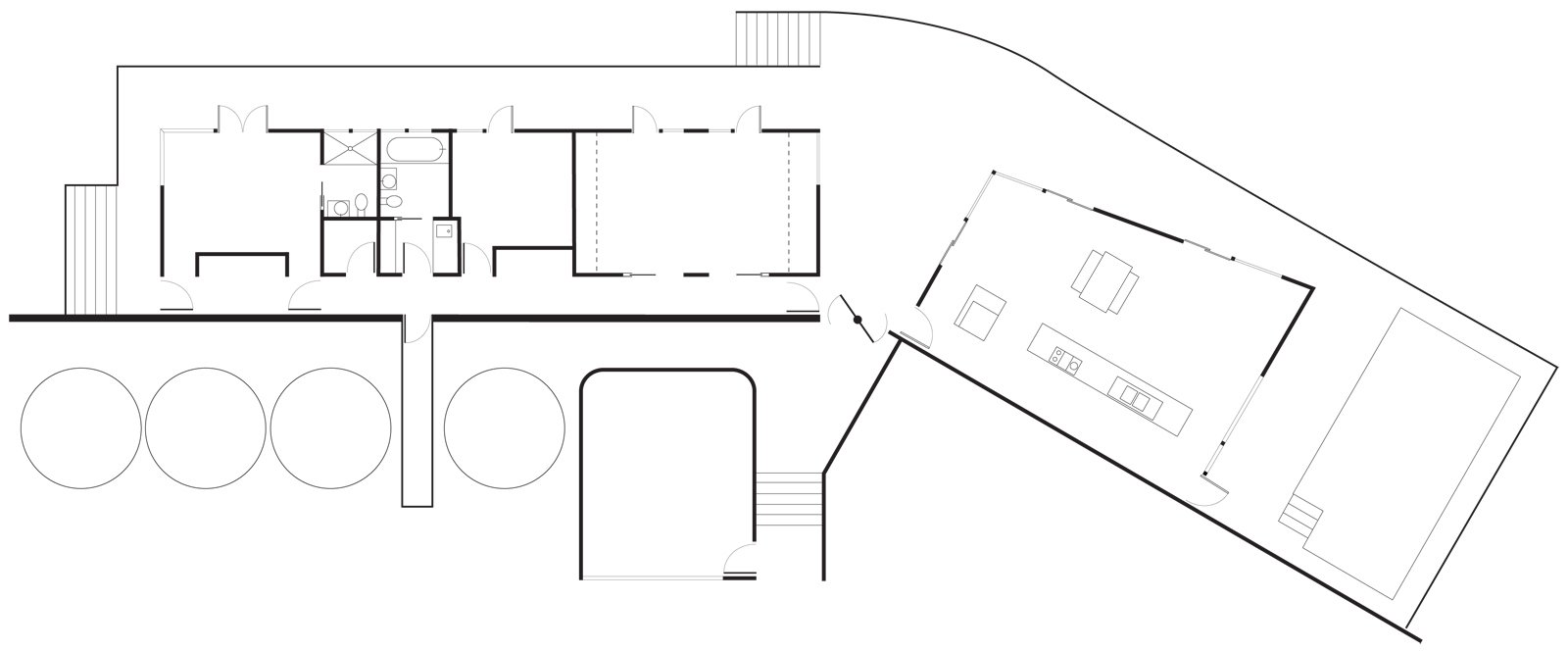 Medland residence floor plan.  Photo 4 of 5 in Winds of Change